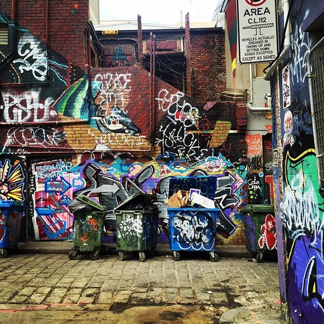 Love wandering the lanes of Melbourne. #Melbourne #graffiti #melbournelaneways #streetart #cobblestones #alley #streetphotography #photography