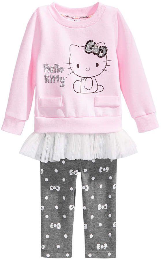 96db818be Hello Kitty 2-Pc. Tunic & Leggings Set, Baby Girls | Kids clothes ...