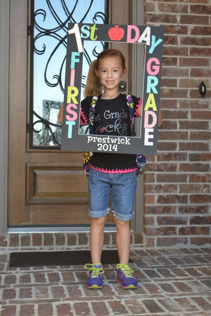 Back to school - first day photo frame