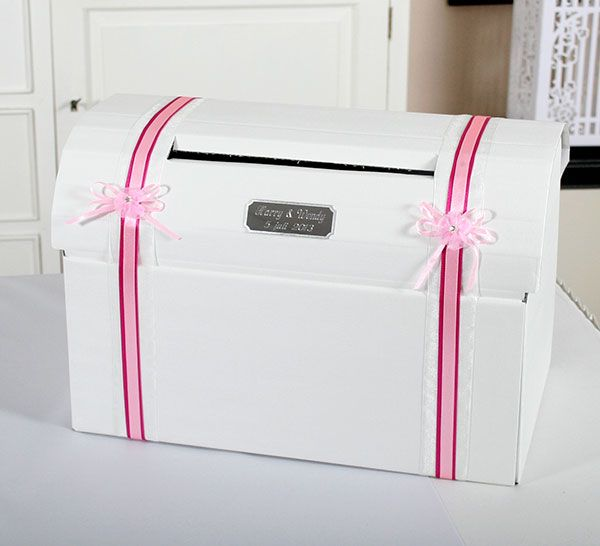 Huwelijk - Enveloppendoos Gepersonaliseerd roze & fuchsia accenten - 9-1421 R