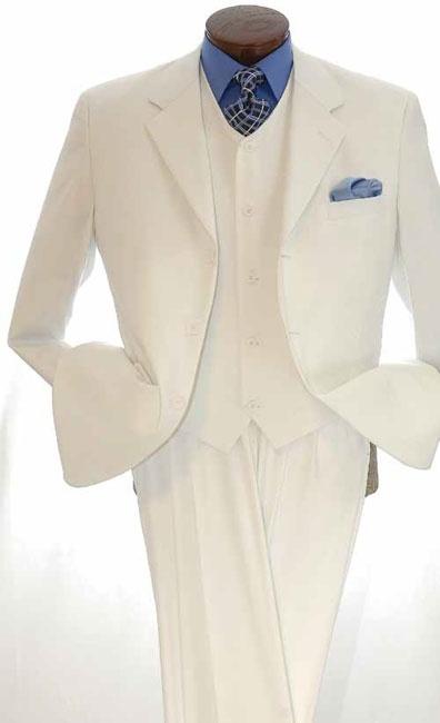 Royal Diamond Mens 3 Piece 100% Poplin Discount Suit - Solid ...