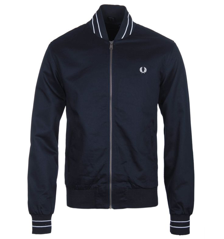 Fred Perry Navy Cotton Bomber Jacket
