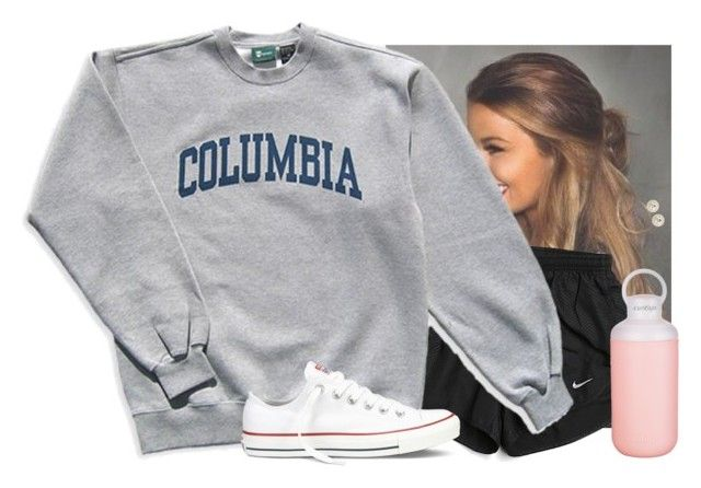 """Love this hairstyle"" by aweaver-2 ❤ liked on Polyvore featuring NIKE, Columbia, Converse, Contigo and Honora"