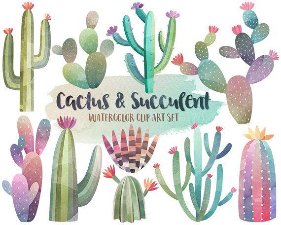 Imágenes Prediseñadas de Cactus acuarela  acuarela Imágenes