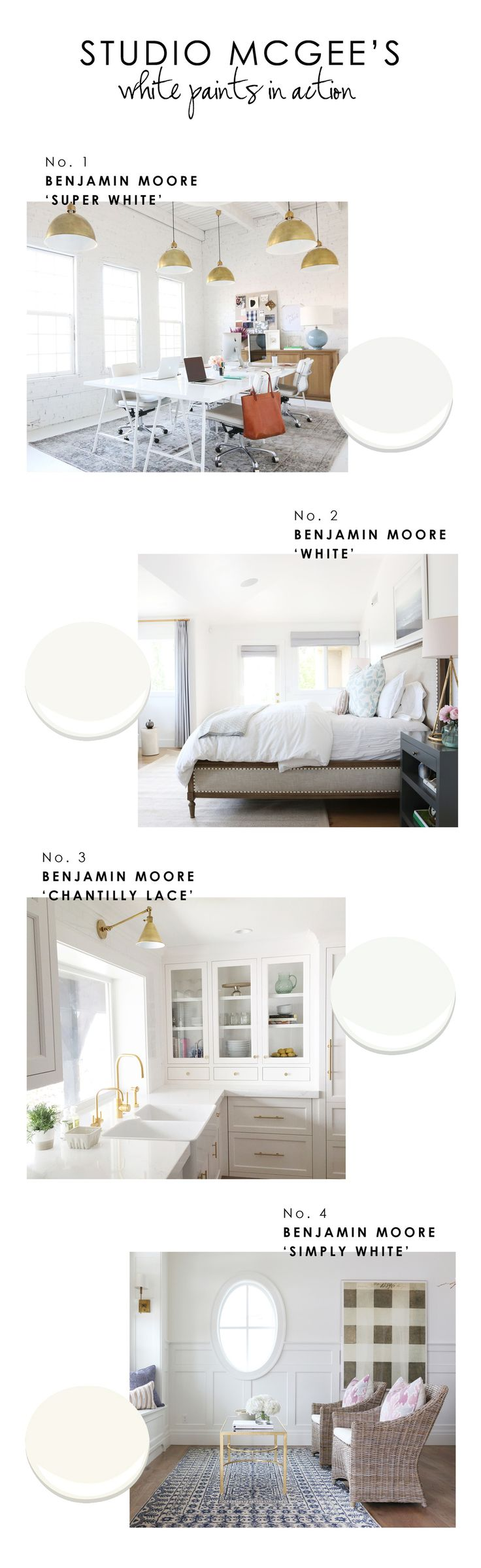Best white paints from interior design experts at Studio McGee