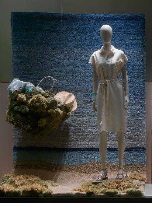 Alexandra Kehayoglou leaves traces of the sea at Hermès Athens window display - The Greek Foundation