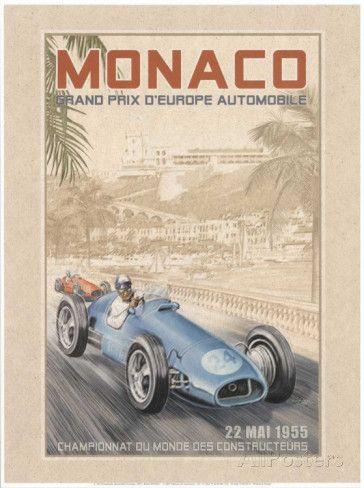 Grand Prix Automobile d'Europe, c.1955 Posters par Bruno Pozzo sur AllPosters.fr