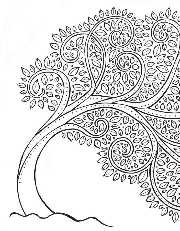 43 best Tree Coloring Pages images on Pinterest | Coloring books ...