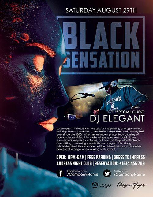 "Plantilla gratis PSD ""Black Sensation"""