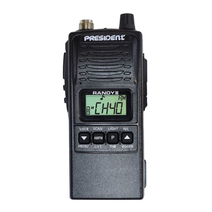 Excelente emisora walkie talkie de banda ciudadana CB27, uso libre. Ya puedes hacer tu pedido: http://milwalkies.com/cb-27-mhz/81-president-randy-ii-p.html
