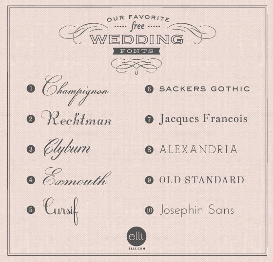 elegant wedding fonts that can be used for just about everything from scrapbooking pieces cards - Fonts For Wedding Invitations