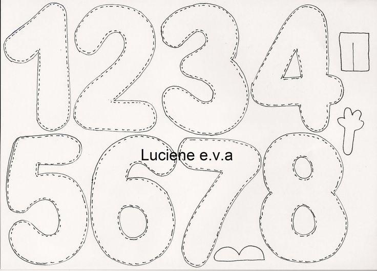1000 ideas about moldes de numeros on pinterest