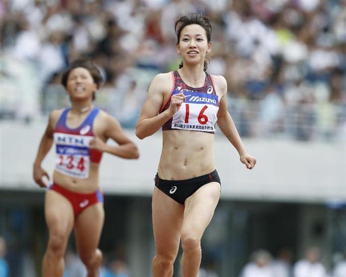 福島千里が優勝 実業団陸上女子100m #陸上