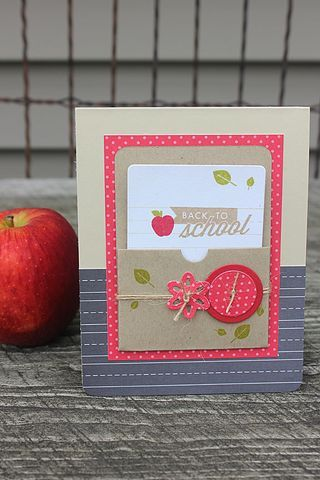 Back To School Card by Heather Nichols for Papertrey Ink (September 2014)
