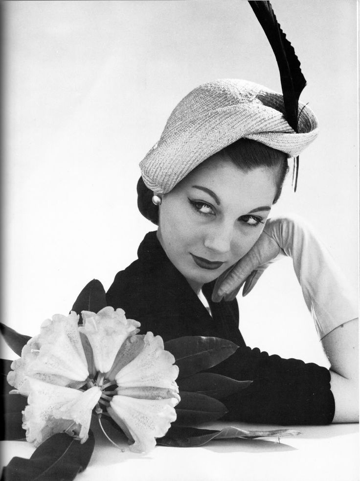 Posted Image: Fashion Photographers, Campbell Walter, 1950S Hats, French Fashion, 1950S Accessories, Hats 1950S, Vintage Hats, Fashion Photography, 1950S Fashion