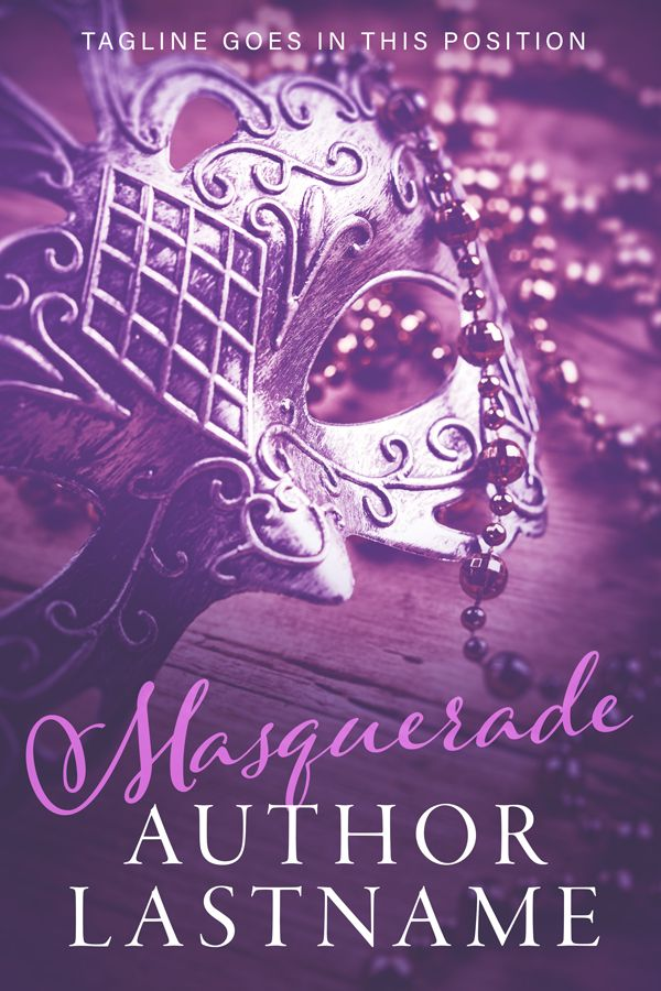 Masquerade - Premade Book Cover by Angela Haddon. An extremely versatile cover that would work well for both romance and saga, either modern or historical. Can be used alone, or would be great as the establishing cover for a series.