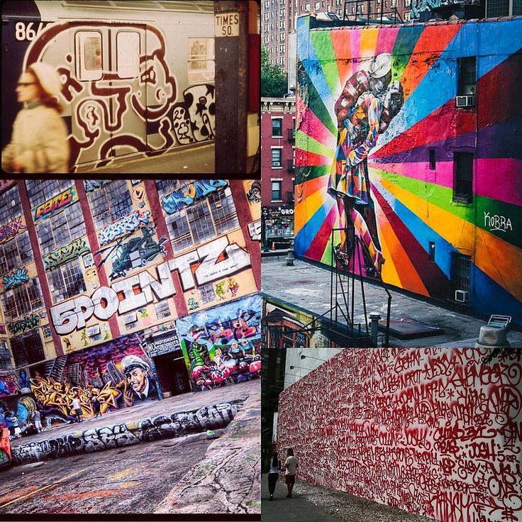 #nycculture #5pointz #bowerygraffitiwall #timessquare #nychistory #highlinegraffiti #flickr-randy lemolne, nan palmero, dennis crowley