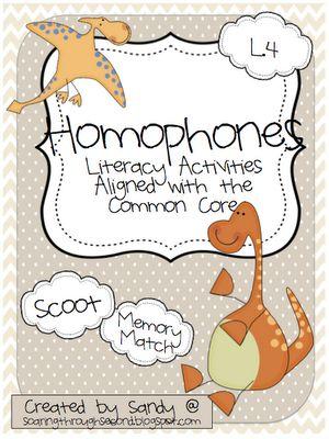 Soaring Through Second Grade: Homophones Literacy Station { FREEBIE }