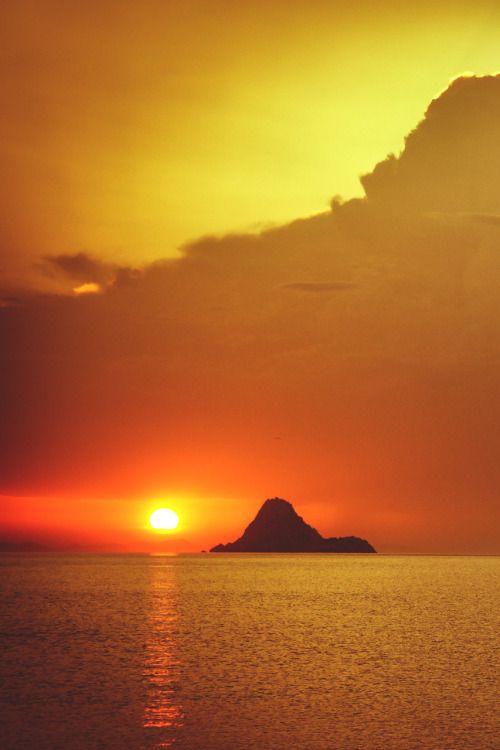 At dawn in Poros Island, Greece