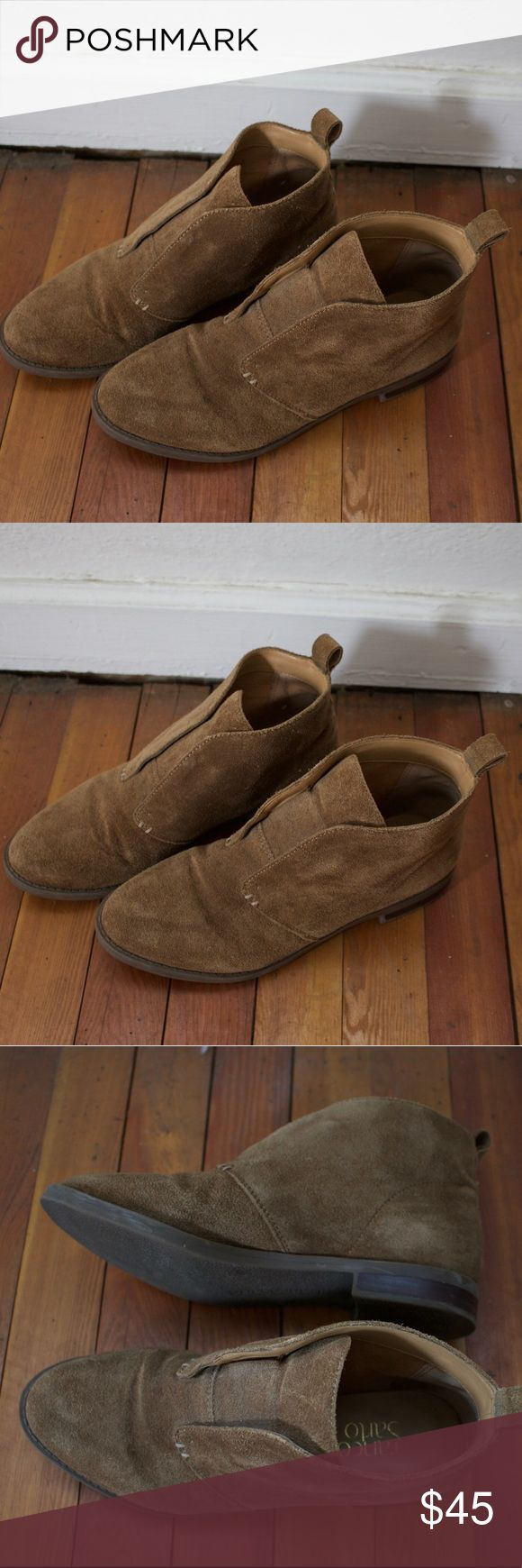 Franco Sarto shoes Tan Franco Sarto suede flats/ loafers. Super comfy, great condition only worn once! Franco Sarto Shoes Flats & Loafers