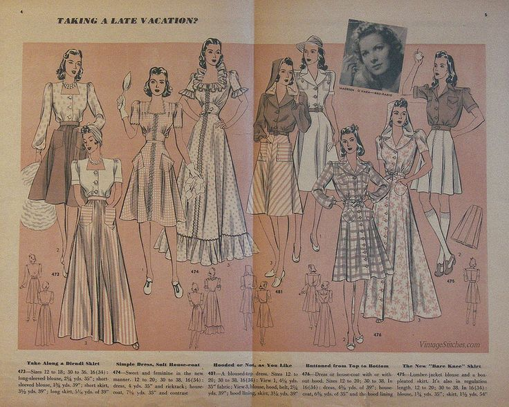 August 1940 Hollywood Patterns | VintageStitches.com