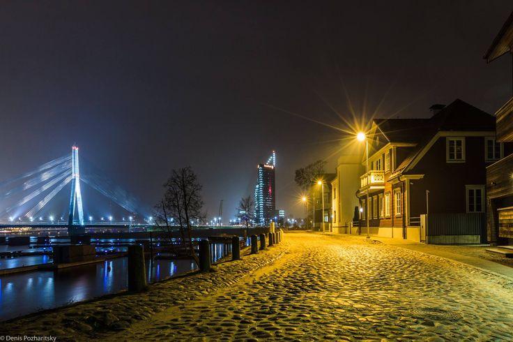 Beautiful Riga by night.