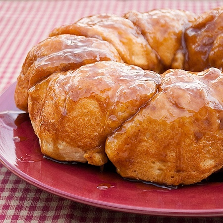 Sticky buns made with grands biscuits. I used whole wheat grands. http://app.cookeatshare.com/recipes/sticky-bun-breakfast-ring-605147