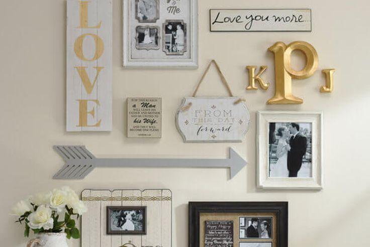 Combina cuadros y otros objetos para decorar tus paredes | Ideas Para Tu Hogar