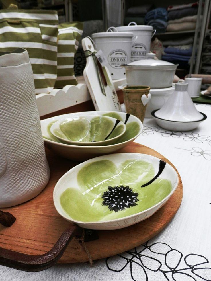 Beautiful ceramic bowls available.