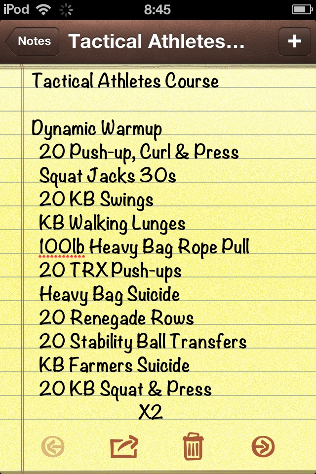 Tactical Athletes Course