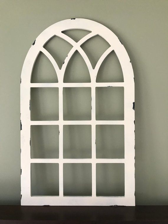 Distressed Arched Window Frame Faux Farmhouse Frame