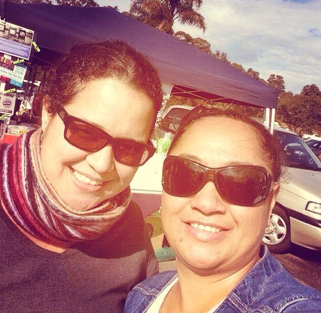 Samara and I at our local Market ❤️