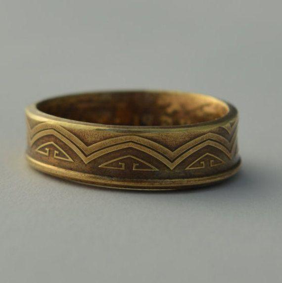 Coin Ring/ Münzring  size(US) 7 1/2; 8 / Größe(DE) 17.75; 18 size/Größe(mm/inches): 56; 57 ; 2 1/4; 2 5/16