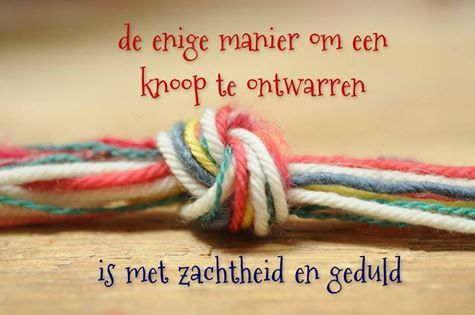 Soms raakt de band tussen mensen 'in de war'; touwtrekken is dan niet de oplossing!