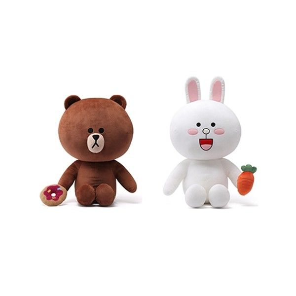 NAVER LINE FRIENDS - OFFICIAL GOODS : CHARACTER DOLL 45CM (2 TYPE)