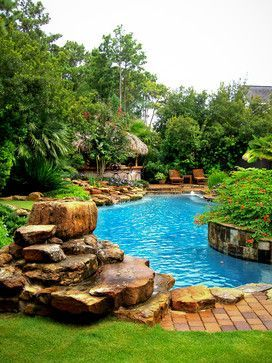 LOVE The Tropical Pool Design.