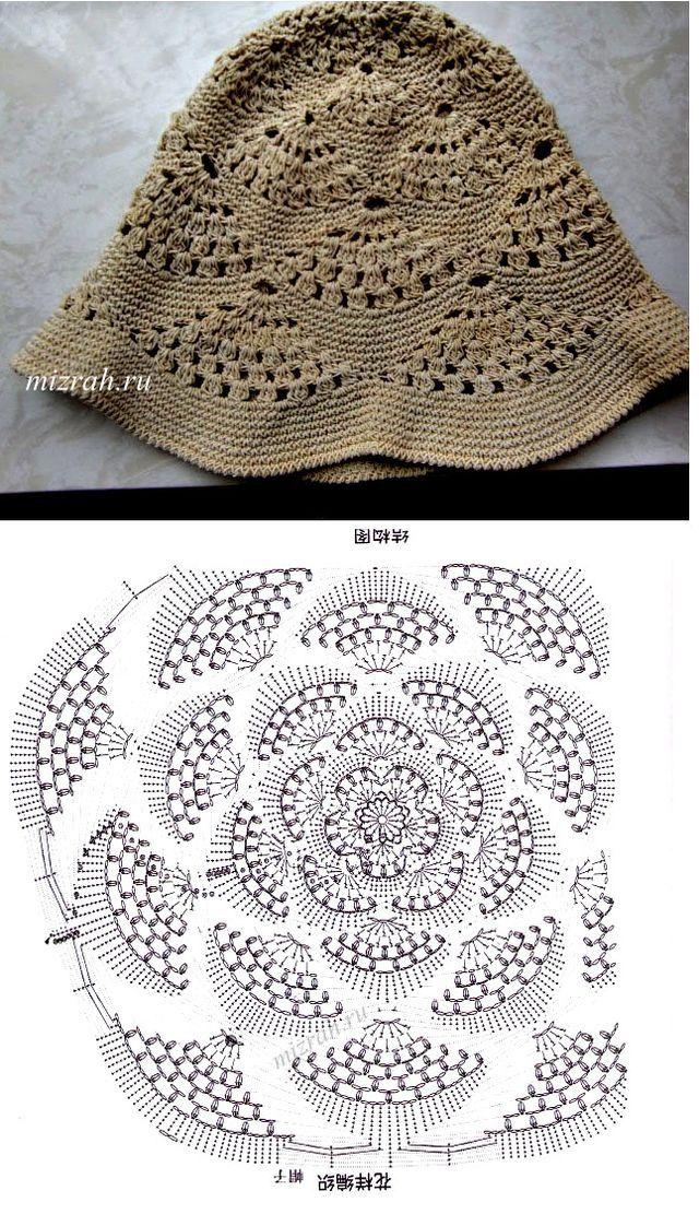Mejores 62 imágenes de gorros crochet en Pinterest   Gorro tejido ...