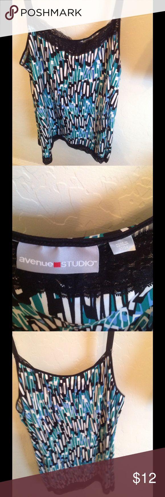 Woman's Plus Size Cami Multi Color Plus Size Cami with adjustable straps size 22/24 Avenue Tops Camisoles