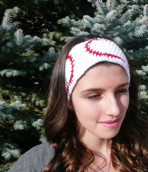 baseball cap ear warmer crochet pattern knitting free white red