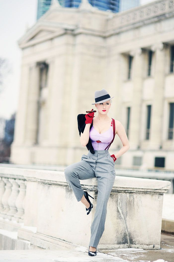 Chicago Chic ♥: Dietrich Glamour || Secrets in Lace Lilac Bullet Bra Set, 2 Wa