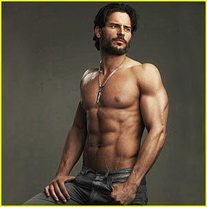 Joe Manganiello werewolf from True Blood and Big Dick Richie from Magic