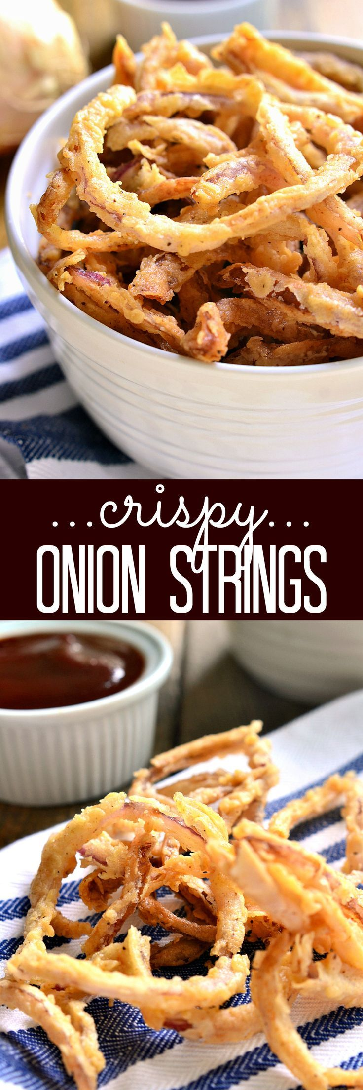 These easy Crispy Onion Strings are the perfect topping for sandwiches, salads, and soups....or delicious all on their own! (Sandwich Recipes For Party)
