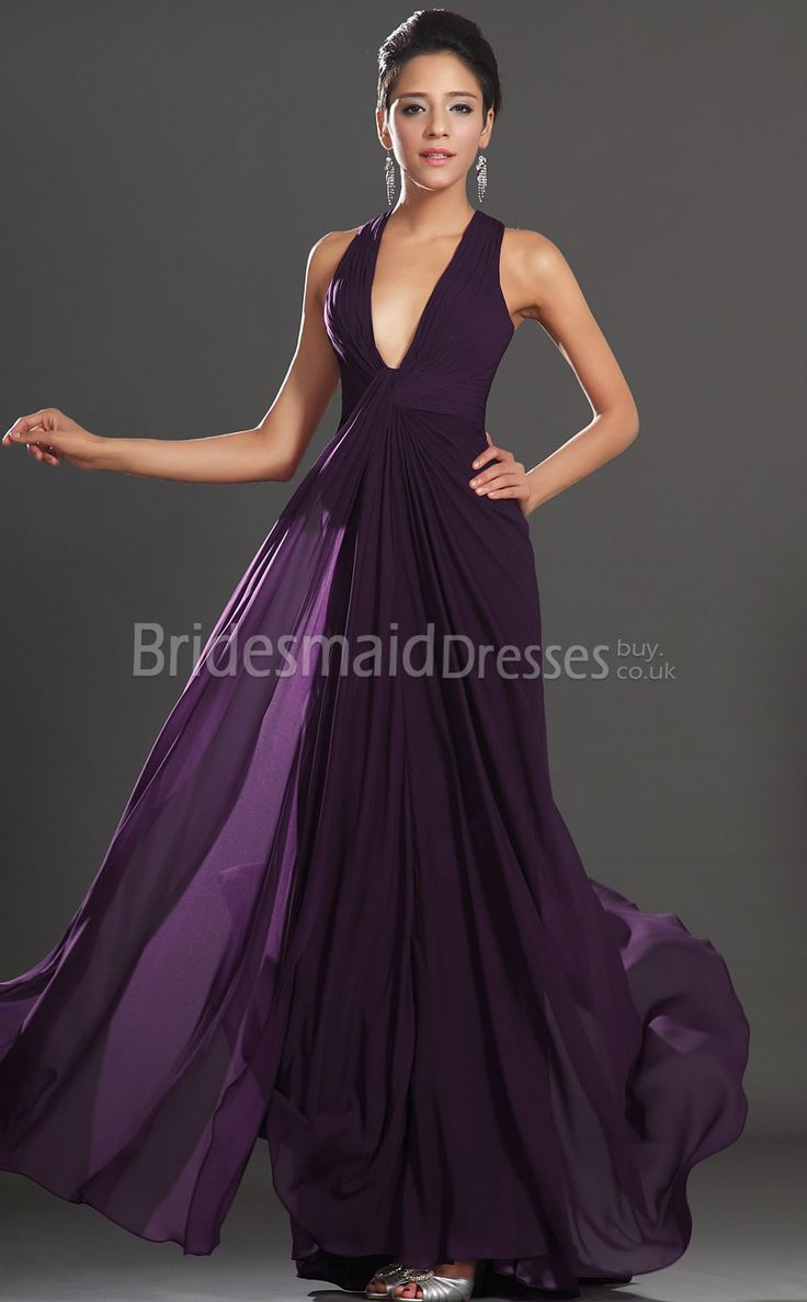 Best 25 long purple bridesmaid dresses ideas on pinterest dark grape chiffon sheathcolumn v neck floor length with draping bridesmaid dresses dark purple ombrellifo Images