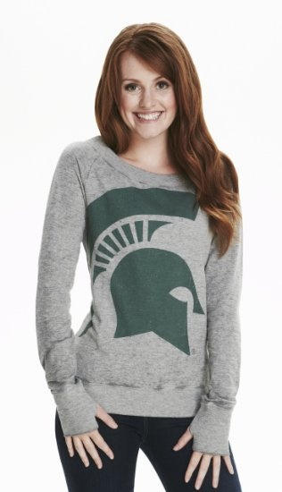 Amazon.com: NCAA Michigan State Spartans Women's Boatneck Sweatshirt: Sports & Outdoors
