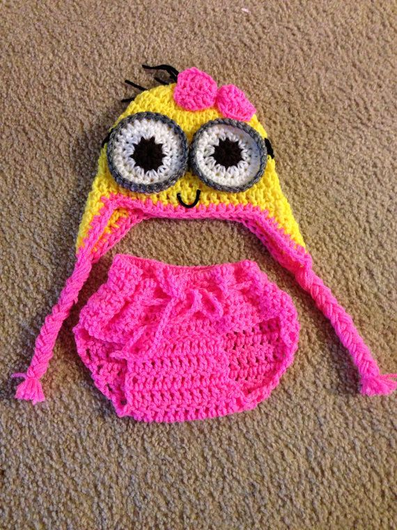 minion baby girl costume 0-3 months. on Etsy, $20.00