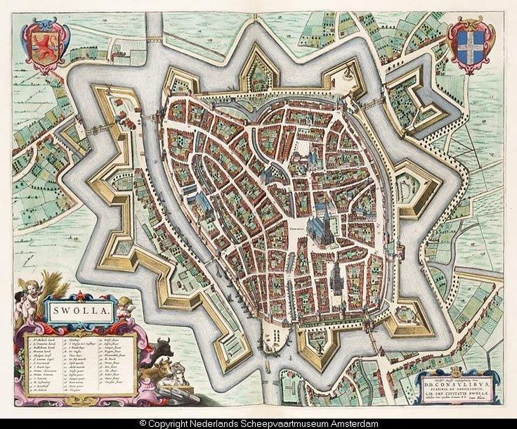 An old map of Zwolle, 1649