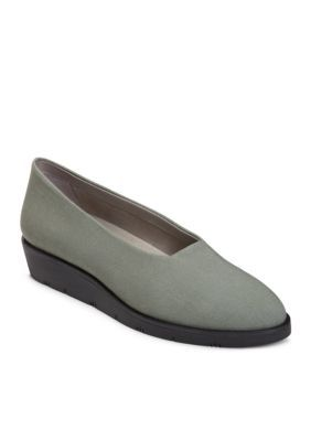 Aerosoles Women's Sideways Wedge Loafer - Grey Fabric - 9.5M
