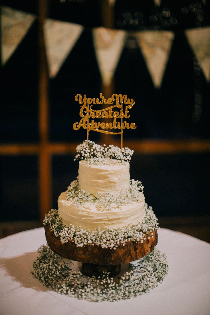 Youre My Greatest Adventure Gold Glitter Wedding Cake Topper KS