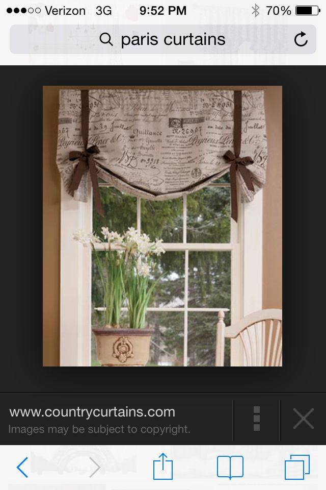 Pretty curtains for a Paris themed room! Simple and cute!