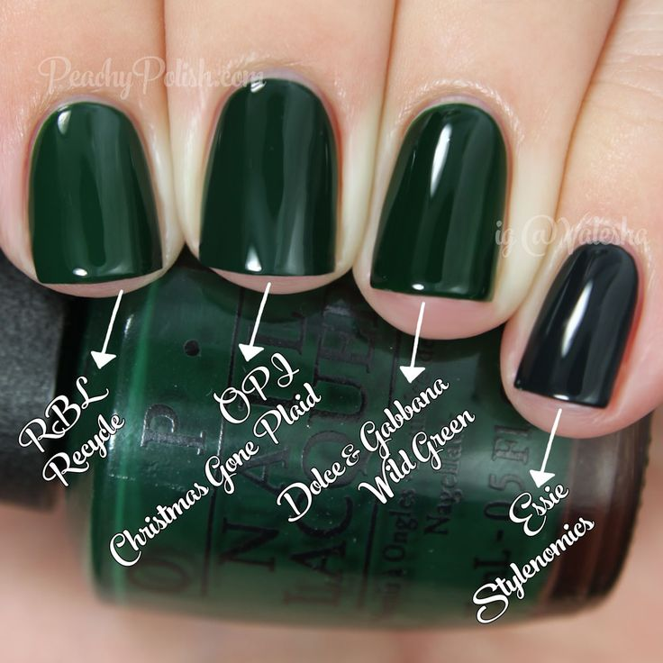 OPI Christmas Gone Plaid Comparison | Holiday 2014 Gwen Stefani Collection Comparisons | Peachy Polish